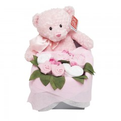 Teddy Rosebud Box - Pink
