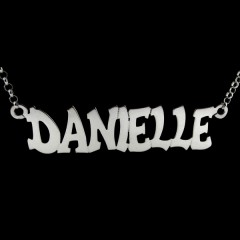 Personalised Sterling Silver 'Hip Hop' Style Name Necklace