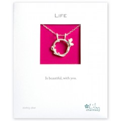 Life - Butterfly Ring Charm Necklace By Lily Charmed