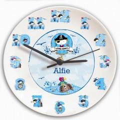 Personalised Boys Pirate Clock