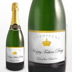 Personalised Elegant Label Champagne Bottle