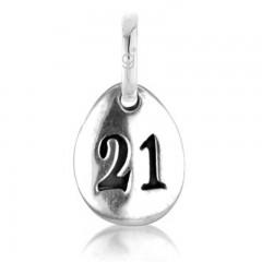 Gemma J Sterling Silver 21 Pebble Charm