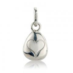 Gemma J Sterling Silver Loveheart locket Pebble Charm