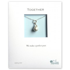 Together - Pear Charm Necklace By Lily Charmed