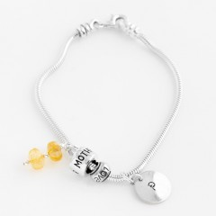 Personalised Sterling Silver Initial Charm Bracelet With Optional Charms