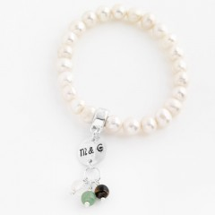 Pearl Bracelet With Personalised Initial Charm