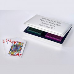 Personalised playing card gift set