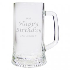 Engraved Personalised Stern Pint Tankard