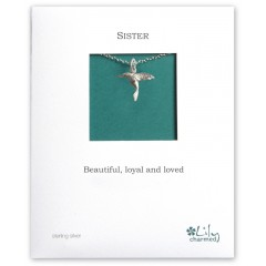 Sister - Hummingbird Charm Necklace By Lily Charmed