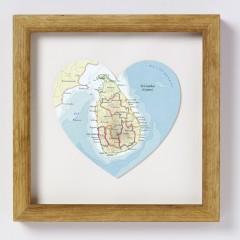 Sri Lanka Map Heart