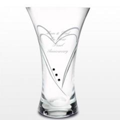 Personalised Swarovski Crystal Heart Vase