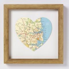 Sydney Map Heart