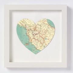 Tuscany Map Heart