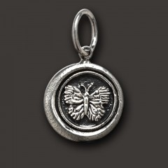 Waxing Poetic Sterling Silver Whimsies Butterfly Charm / Pendant