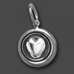 Waxing Poetic Sterling Silver Whimsies Heart Charm / Pendant