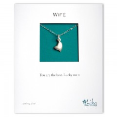 Wife - Heart Charm Necklace By Lily Charmed